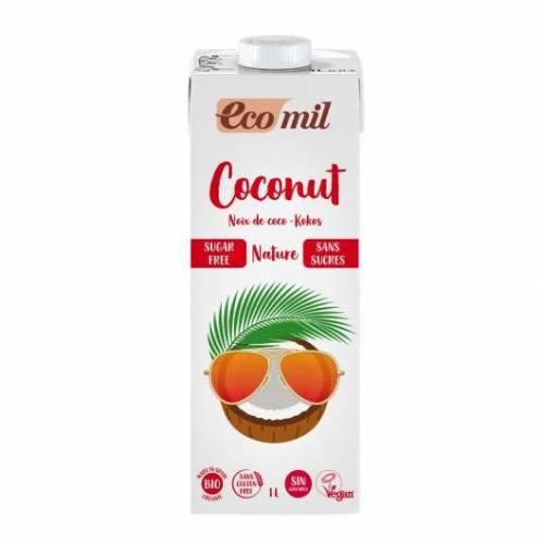 Leche de Coco Sin Azúcar 1 L, de Ecomil