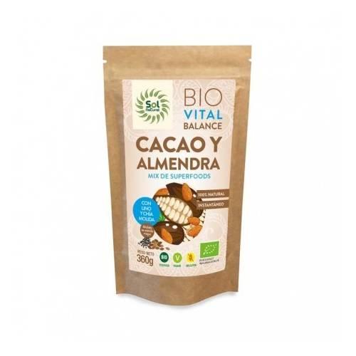 Vital Balance Cacao y Almendra BIO 360g, de Sol Natural