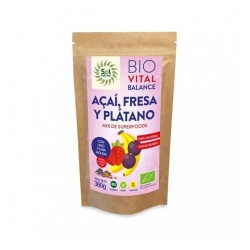 Vital Balance Açai, Fresa, Plátano BIO 360g, de Sol Natura
