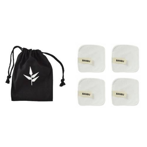 Discos  desmaquillantes reutilizables blanco, bolsa 4uds , de Banbu