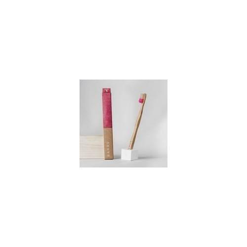 Cepillo dientes Bambu rosa medio, de Banbu