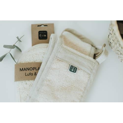 Manopla Lufa y algodón, de Naturabio