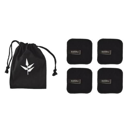 Discos  desmaquillantes reutilizables negro, bolsa 4uds , de Banbu