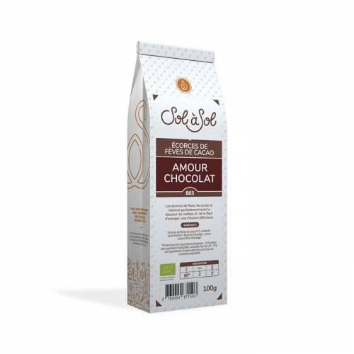 Infusión de Cacao, rooibos y naranja  Amour Chocolat 100g, de Sol à Sol