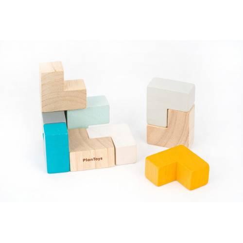 Cubo puzzle madera 3D mini, de PLAN TOYS