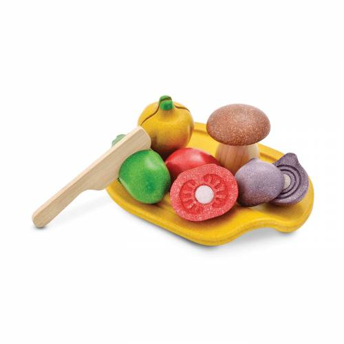 Set verduras madera, de PLAN TOYS