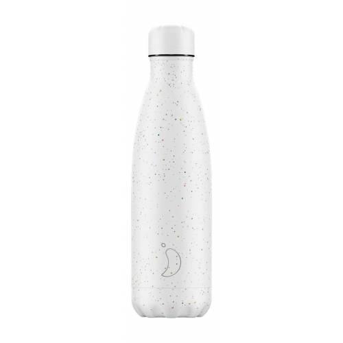 Botella térmica Moteado Blanco 500ml, de CHILLY'S