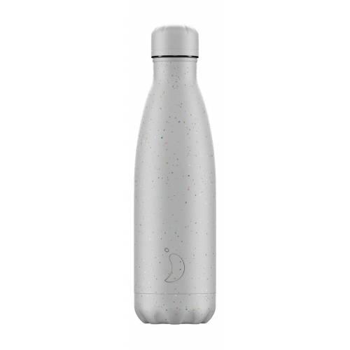 Botella térmica Moteado Plata 500ml, de CHILLY'S