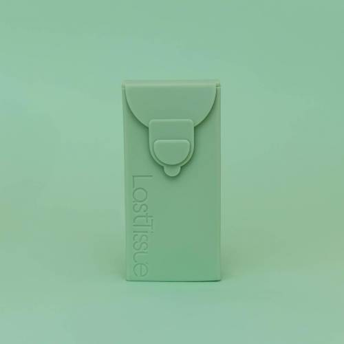 Pañuelos de algodón orgánico en funda de silicona, de Lastproject