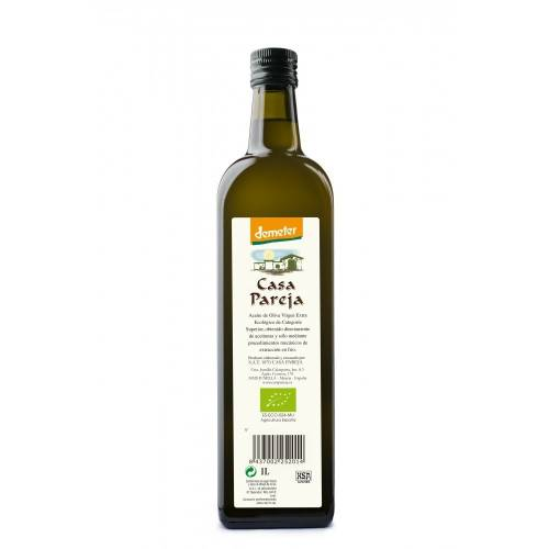Aceite oliva  Virgen Extra Ecologico DEMETER 1L, de Casa Pareja