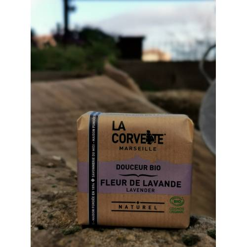 Jabón  Pastilla Bio Lavanda 100g, de La corvette
