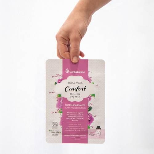 Tissue Mask mascarilla Comfort Piel seca, de Esential'aroms